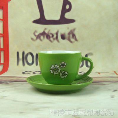 陶瓷咖啡杯碟套装 手绘羊奶杯子 欧式英式茶杯 批发
