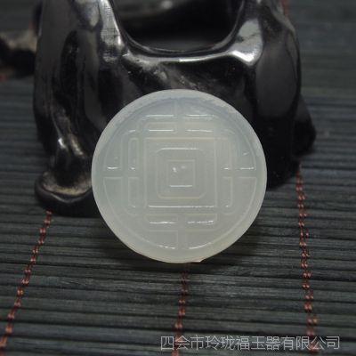 翡翠玉器来料加工电脑雕刻刻字刻图专业标志LOGO设计玉器加工定做