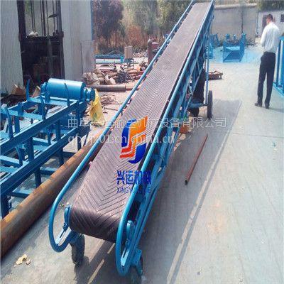 10米长可升降输送机定做-港口圆管装卸车皮带机,移动式木箱装车传送机