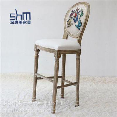 吧台高脚椅定制 吧台高脚椅 深惠美家具(在线咨询)
