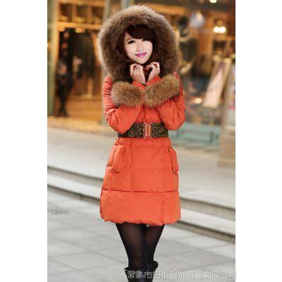 雪雅登1388女式羽绒服 新款爆款时尚款冬装 一衣两穿 超大毛领