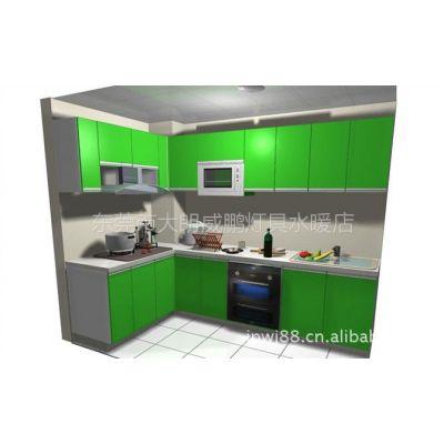 供应石英石台面橱柜 晶钢门厨柜 烤漆门橱柜