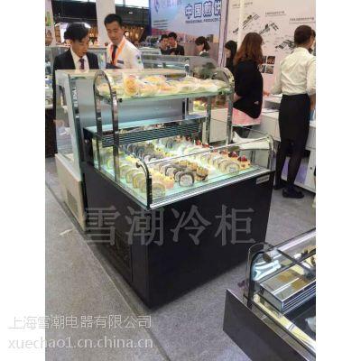 上海定做烘焙西点冷藏柜欧式三层蛋糕展示冰柜 平移后开玻璃门蛋糕柜