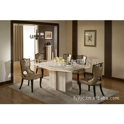 供应2012新的韩式高级大理石餐桌椅(LE-100)