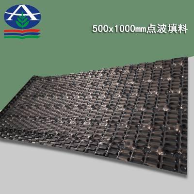 1500*500 点波填料价格 横流塔用的1500长的PVC淋水片 河北华强