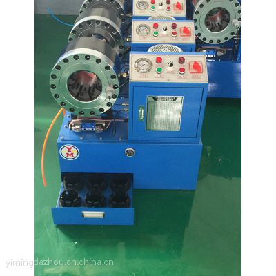 一鸣厂家直销YM500胶管压管机 48扣压机等