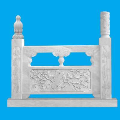 定做汉白玉石栏杆 河道石护栏 山东专业制作石雕厂家