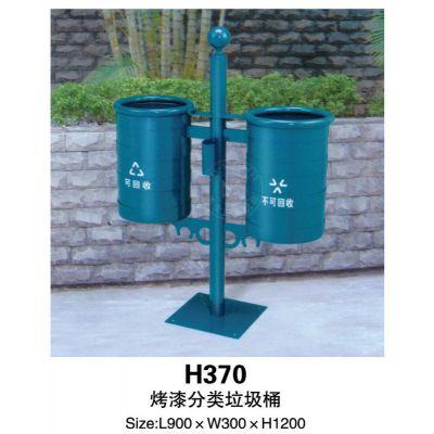 垃圾桶,单管方底座垃圾桶,小区街道使用,墨绿烤漆图片