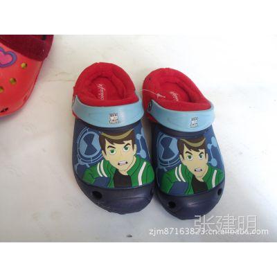 防水洞洞鞋秋季加棉花园鞋棉拖 室内外棉鞋 保暖拖鞋外贸尾货