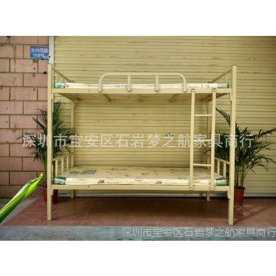 广州厂家直销上下铺铁床 双层铁床 铁床厂家批发 单层铁架床 批发