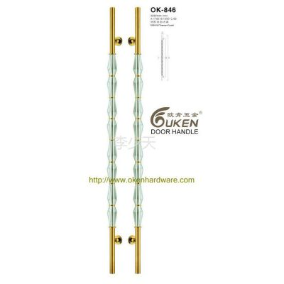 供应新款优质不锈钢菱形透明水晶豪华大拉手OK-846