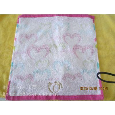 纯棉吸水柔软活性印花儿童方巾