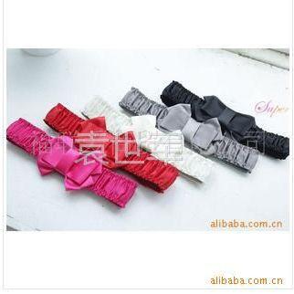 供应Y7韩版女式绸缎腰带 松紧宽腰封 蝴蝶腰带