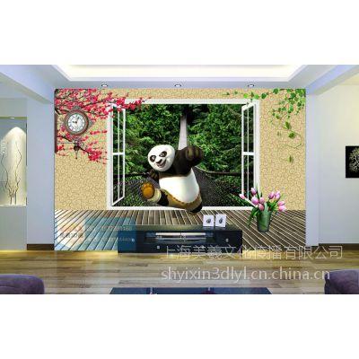 功夫熊猫3D画 电视背景3D画 3D壁纸