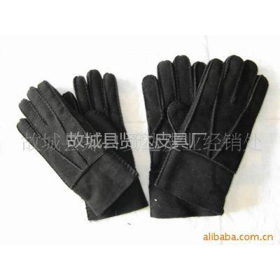 供应皮毛一体手缝手套 皮毛一体绵羊皮手套 男士手工缝制手套w026