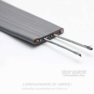 供应TVVBG电梯扁电缆(2根钢丝),超强抗拉