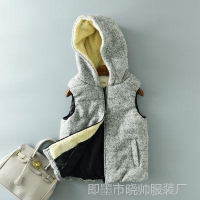 休闲棉马甲坎肩冬季新款加厚外套背心无袖马夹大码显瘦女装潮