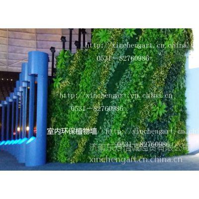 山东省博物馆仿真植物墙 仿真植物