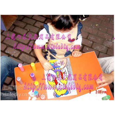 供应批发上海心乐胶画,烤画,沙画,彩泥画,金粉画各种DIY手工画产品