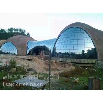 【福建神安玻璃】双曲面钢化玻璃--中空内置百页窗,钢化玻璃,热弯玻璃,中空玻璃,镀