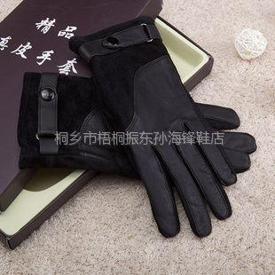 供应2013年海宁真皮手套简单保暖大方绵羊皮手套