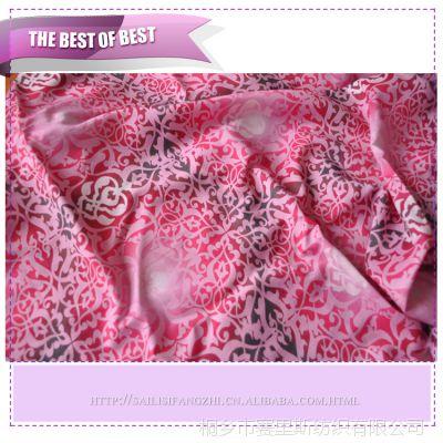 长期供应弹力缎印花丝毛缎面料 真丝服装家纺面料 真丝服服饰布料