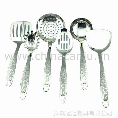 【厂家供应】水立方厨具 锅铲 铲勺 饭勺 不锈钢套装 烹饪勺铲