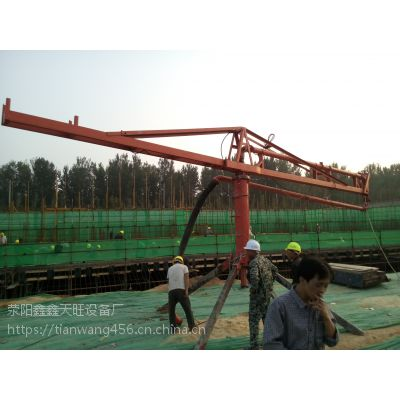 新郑天旺15米方架式高层浇注可移布料机