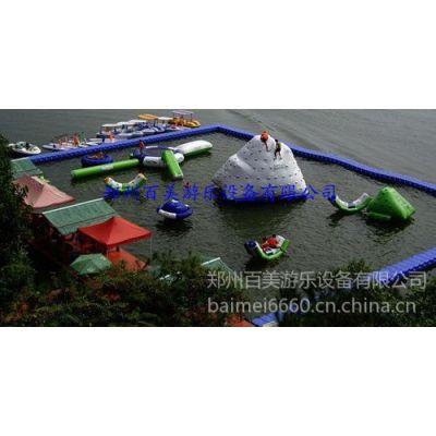 供应大型充气水上乐园玩具/水上跷跷板/多人游乐充气运动会器材