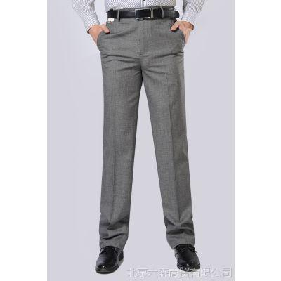 正品金苹果夏季新款薄款中老年男士西裤桑蚕丝双褶西装裤爸爸裤子