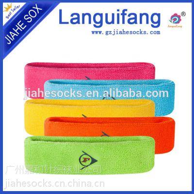 时尚体育用品供应商,净色时尚休闲针织毛圈头带,护头巾