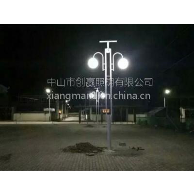 供应4米高不锈钢景观灯 高端气派别墅庭院灯 中山创赢照明厂