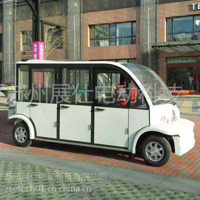 南京八座封闭电动观光车 多功能电瓶车 休闲代步车 校园工厂游览车