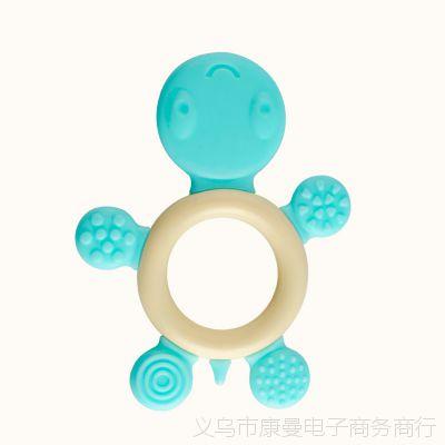 批发纳川婴幼儿卡通乌龟造型按摩牙胶 磨牙棒 舒缓宝宝长牙的苦恼