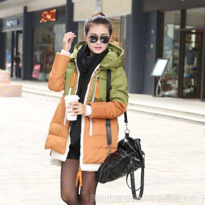 秋冬品牌韩版女装 2014中长款羽绒服女款保暖大码军工装女士外套