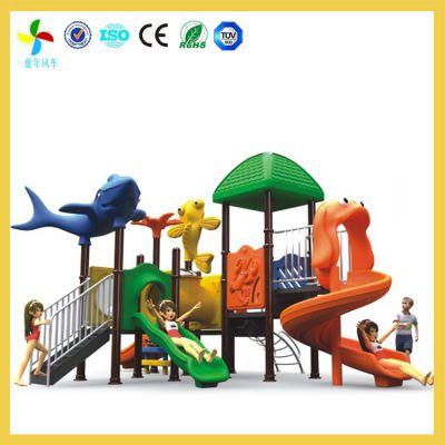 长沙室外卡通滑滑梯创新设计|岳麓幼儿园全塑滑梯妈妈更放心