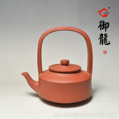 宜兴正品 厂家特惠批发原矿清水泥 提梁紫砂茶壶
