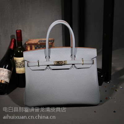 2015春夏新款潮铂金包欧美时尚头层牛皮真皮女包手提包女士大包袋
