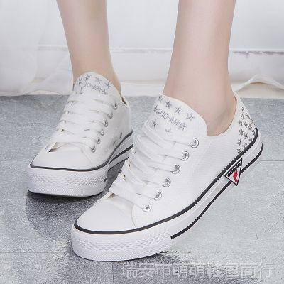 【新品定制】新款韩版夏日时尚帆布鞋  女 平底鞋 淘宝直供女鞋