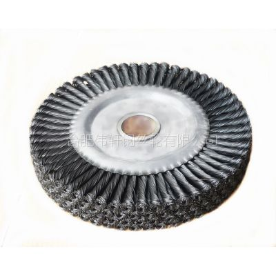 工厂直销伟轩外径100至400mm扭丝平型打磨除锈钢丝轮
