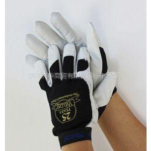 供应威特仕10-2670雄蜂王羊皮机械师手套/减震手套