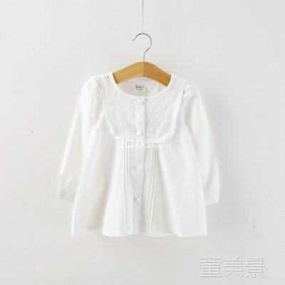 女童长袖衬衫 欧美童品 外贸童装 批发 纯棉长袖初衣 3-230