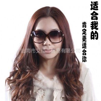 供应2013明星款墨镜/推荐款/女士太阳镜/偏光太阳眼镜/大框蛤蟆镜3182