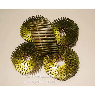 江西南昌厂家直销防锈气动螺纹卷钉/出口镀锌环纹卷钉/铁钉