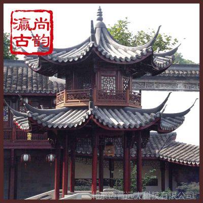 北京专业厂家提供古建仿古凉亭、长廊木质建材加工