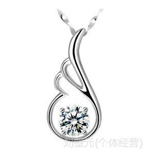 八心八箭瑞士钻 天使翼钻石项链 韩版女锁骨链短款 韩国饰品批发