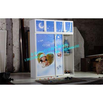 优质生态板玻璃衣柜移门uv打印机私人定制衣柜图案喷绘机