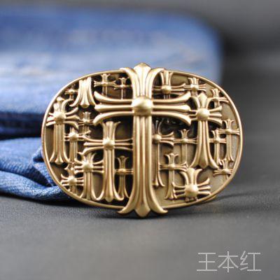 纯铜扣diy皮带头字母男士百搭时尚 雕刻花纹纯铜铜扣扣头