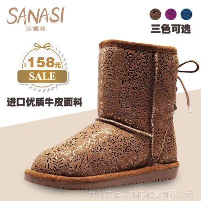 女鞋新款 女士休闲短靴 品牌女靴子 外贸时尚真皮女靴 厂家批发
