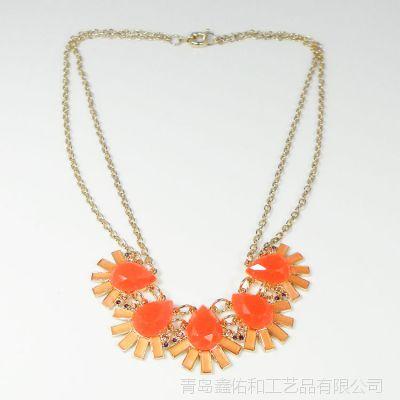 厂家批发短款项链 女 多款镶钻宝石 时尚百搭 加工定做 衣服配饰